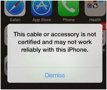 Báo phụ kiện không phù hợp với iphone