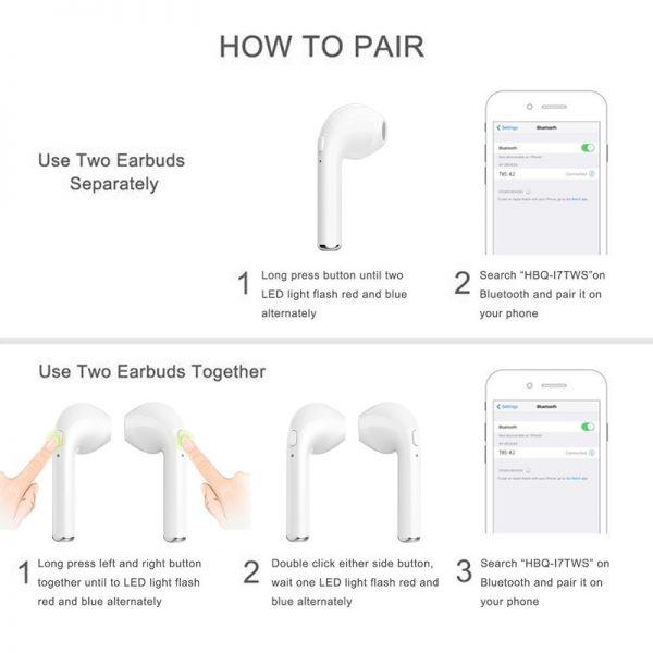 Cách kết nối tai nghe i7s với iPhone