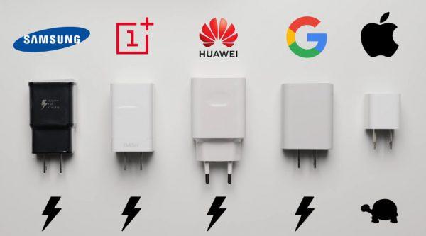 Samsung, Plus One, Huawei, Google đều đã có sạc nhanh