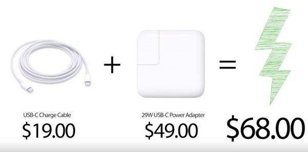 bộ sạc nhanh của Apple được bán lẻ với giá $68